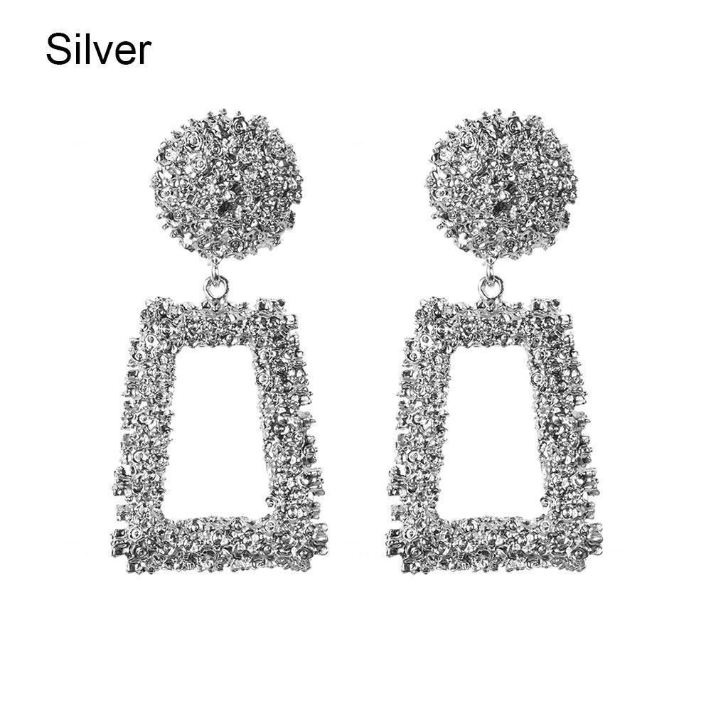 Trendy Punk Jewelry Metal Statement Dangle Drop Earrings Big Gold Geometric NEW 6