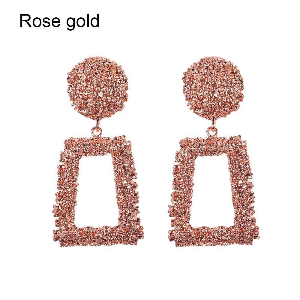 Trendy Punk Jewelry Metal Statement Dangle Drop Earrings Big Gold Geometric NEW 7