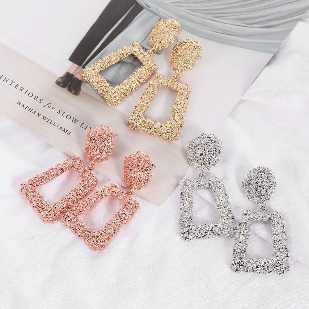 Trendy Punk Jewelry Metal Statement Dangle Drop Earrings Big Gold Geometric NEW 8