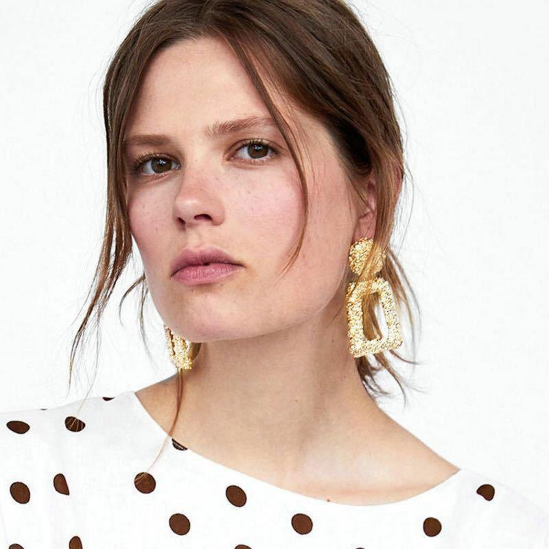 Trendy Punk Jewelry Metal Statement Dangle Drop Earrings Big Gold Geometric NEW 10