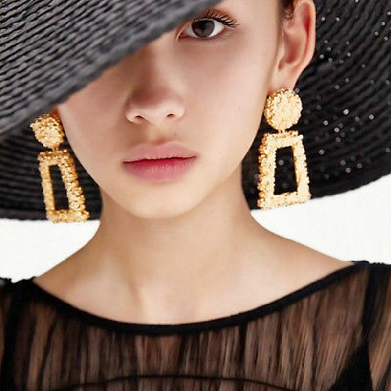Trendy Punk Jewelry Metal Statement Dangle Drop Earrings Big Gold Geometric NEW 11