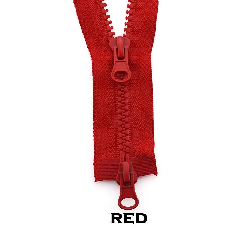 5-Resin-Reissverschluss-Zweiwege-Doppeloeffnung-DIY-Jacken-Mantel-Hosen-80-150cm Indexbild 100