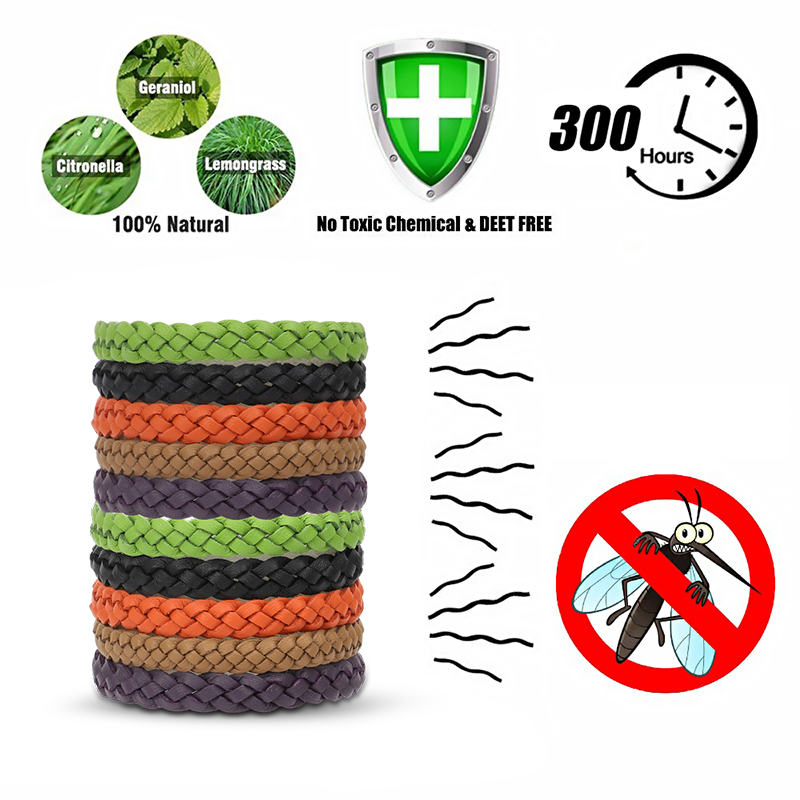 Safe-Anti-Mosquito-Insect-Repellent-Bracelet-Natural-Leather-Weave-Wrist-Bands thumbnail 11