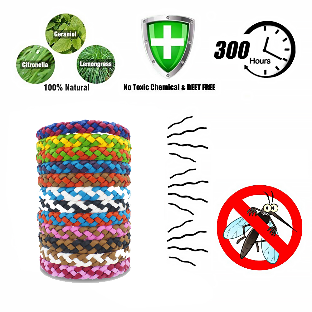 Safe-Anti-Mosquito-Insect-Repellent-Bracelet-Natural-Leather-Weave-Wrist-Bands thumbnail 14