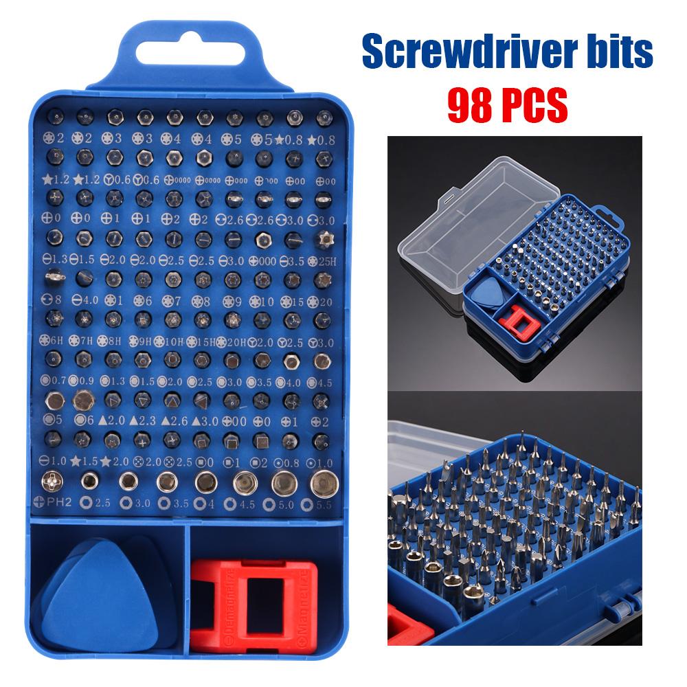 117er Set Reparatur Öffnungswerkzeug Kit Schraubendreher Für Handys Laptop PC DE