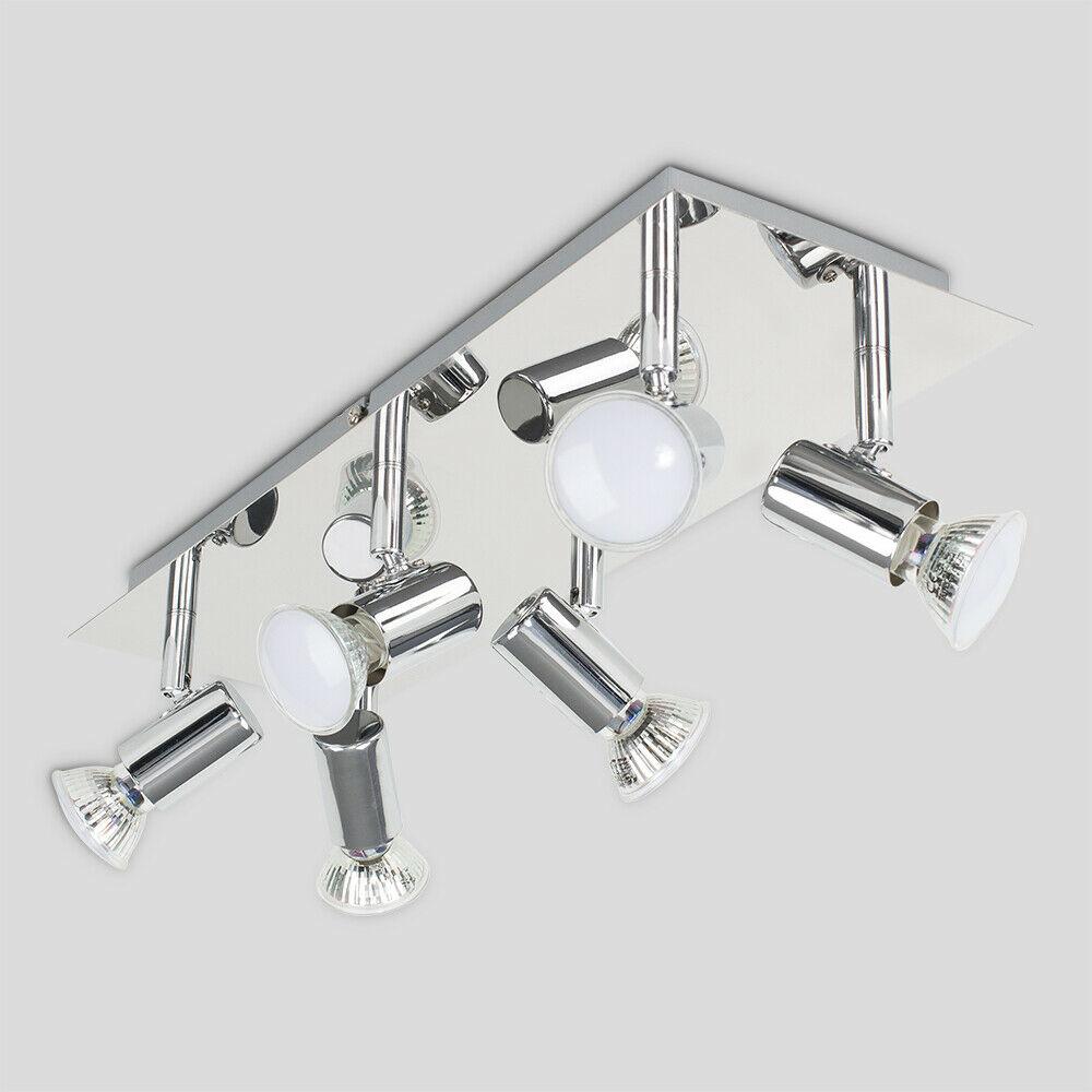 6 way led ceiling spot lights fitting kitchen spotlight