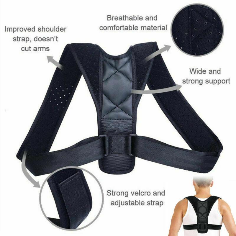 Corrector-de-Postura-Ajustable-Clavicula-Hombros-Espalda-Cervical-Columna-recta miniatura 3