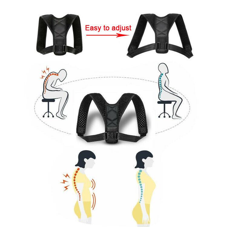 Corrector-de-Postura-Ajustable-Clavicula-Hombros-Espalda-Cervical-Columna-recta miniatura 5