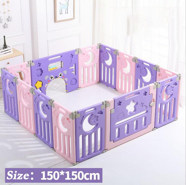 Parc-Bebe-Barriere-Securite-Plastique-Pilable-Enfant-Protection-Porte-Regable miniature 16