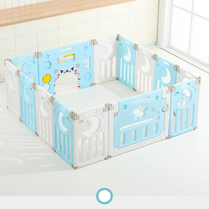 Parc-Bebe-Barriere-Securite-Plastique-Pilable-Enfant-Protection-Porte-Regable miniature 24