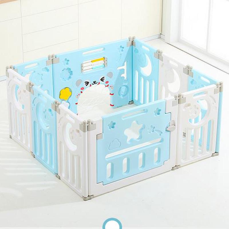 Parc-Bebe-Barriere-Securite-Plastique-Pilable-Enfant-Protection-Porte-Regable miniature 25