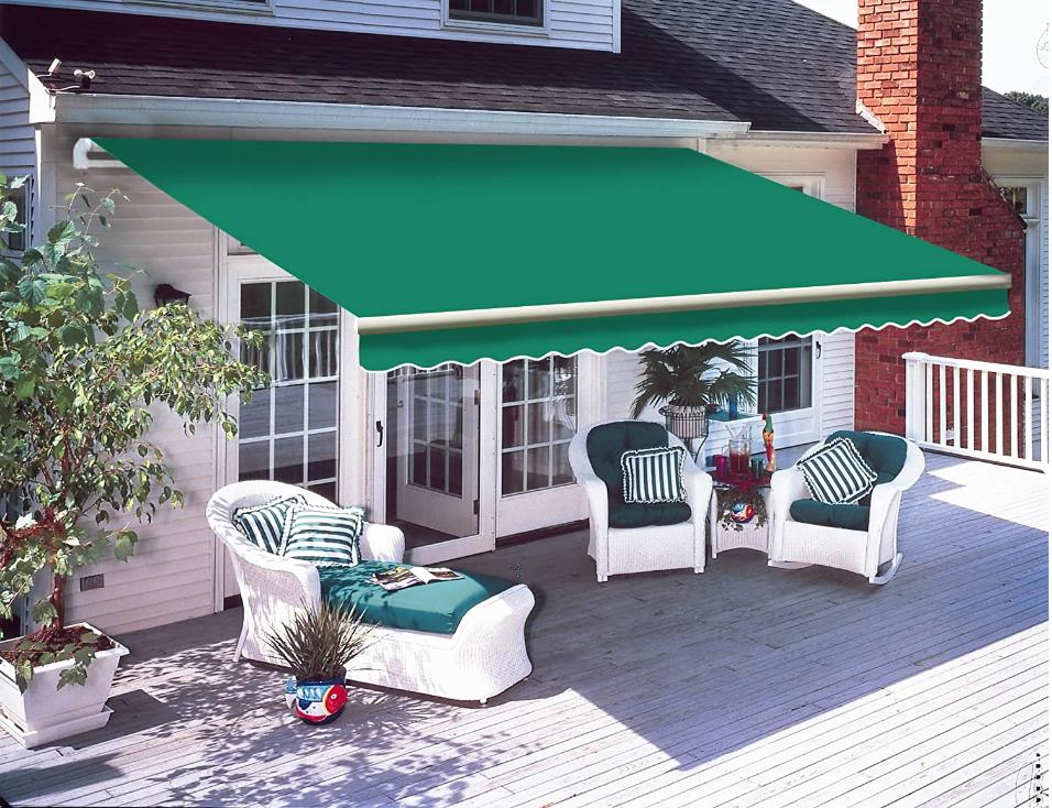 Patio DIY Manual Awning Garden Canopy Sun Shade ...