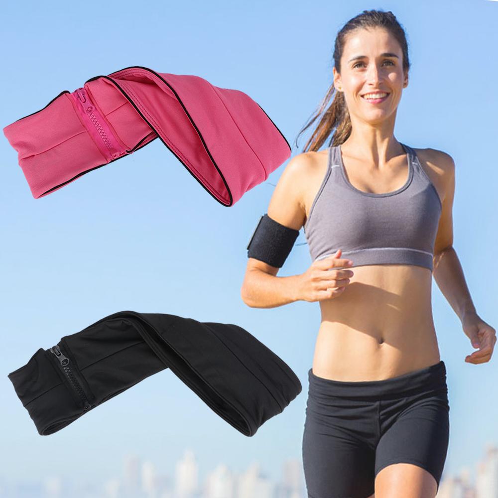 5.5/'/' Gym Running Fitness Jogging Sports Goods Zipper Belt Soft Waist Bag Cover