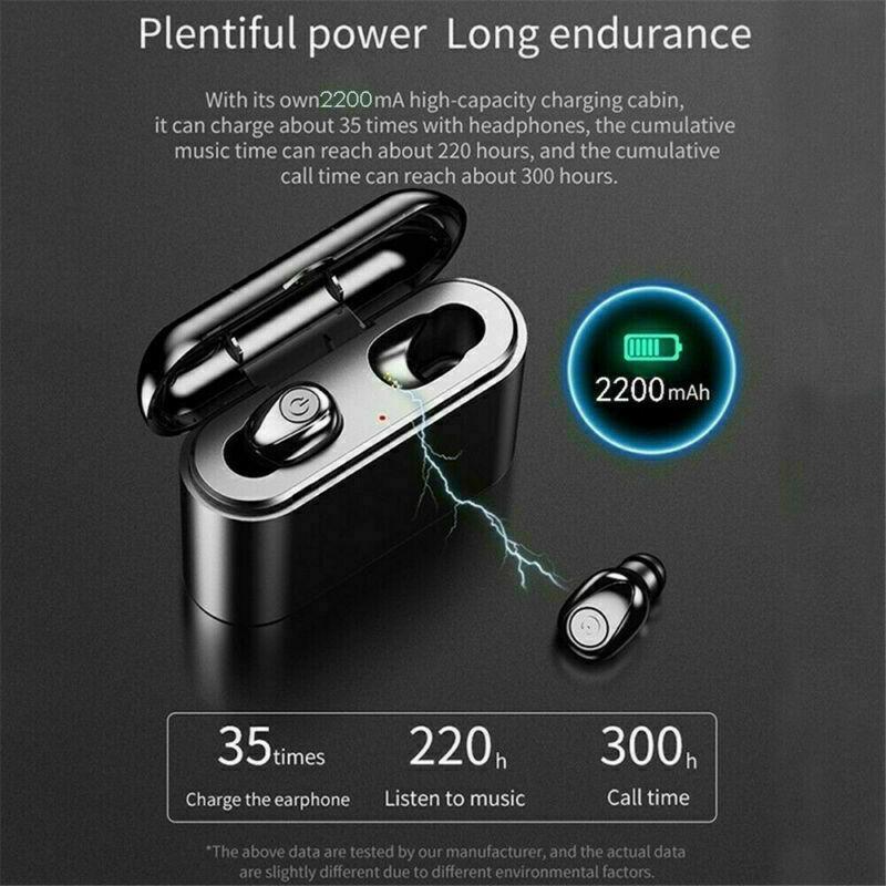 X8S-Auriculares-Bluetooth-5-0-TWS-Inalambricos-5D-Con-Caja-De-Carga-Cascos-y-Mic miniatura 3