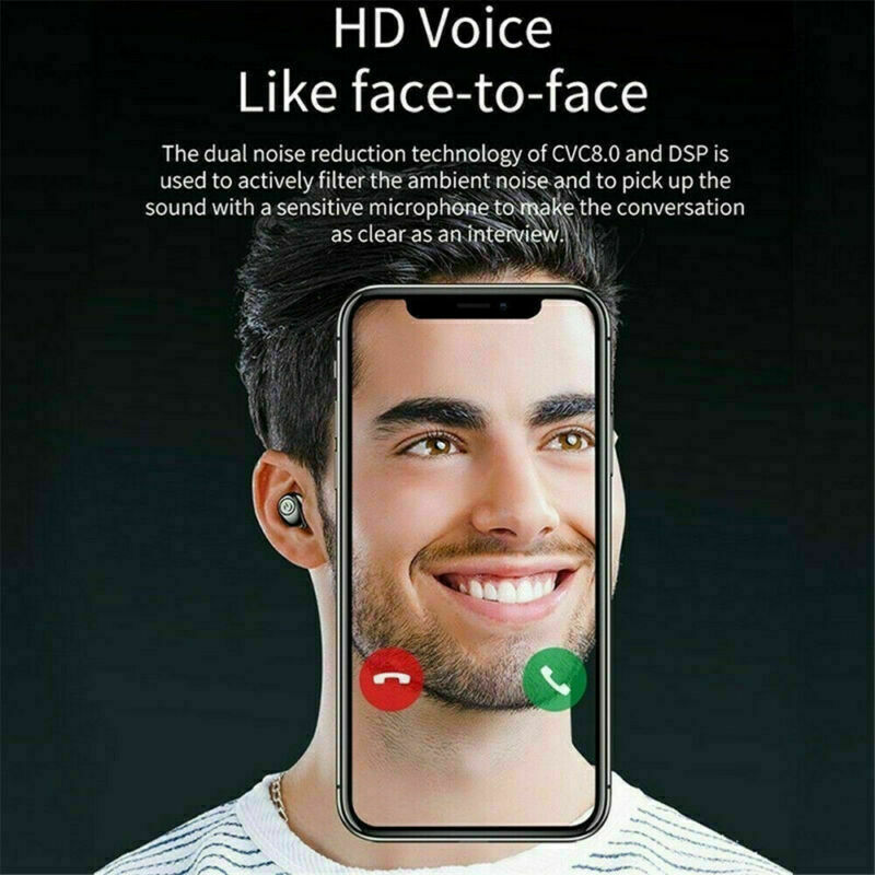 X8S-Auriculares-Bluetooth-5-0-TWS-Inalambricos-5D-Con-Caja-De-Carga-Cascos-y-Mic miniatura 11