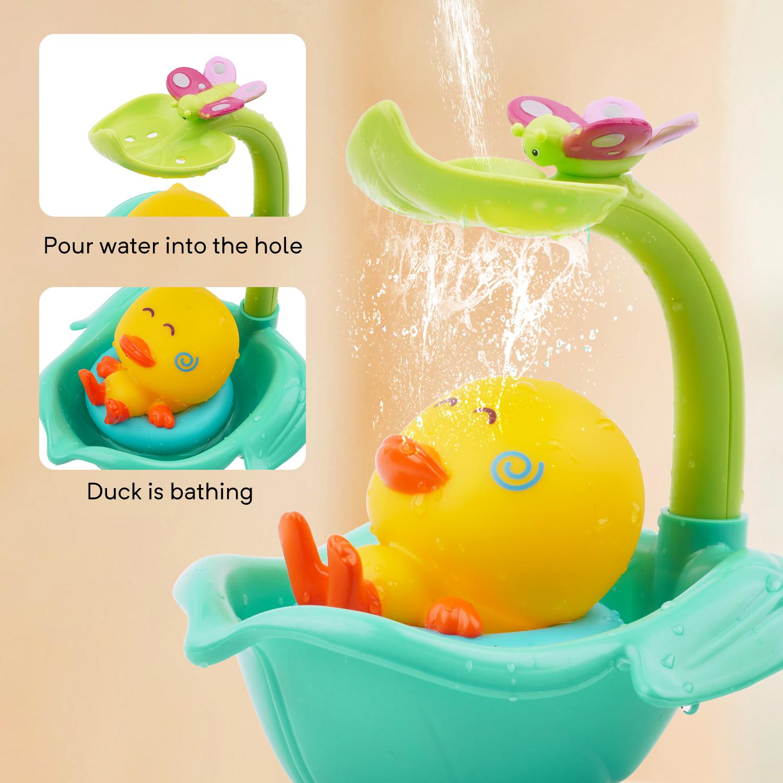 5 Teile Satz von mini gummi Schwimmring Baby Badespielzeug Süße gelbe Ente