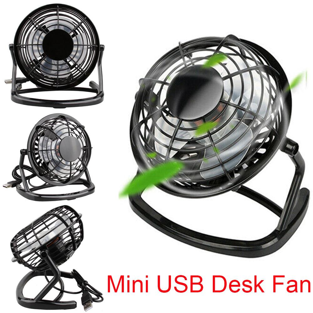 USB Desktop Mini-Ventilator Tragbar /& Leise Kühlung für Computer Laptop Pc Von