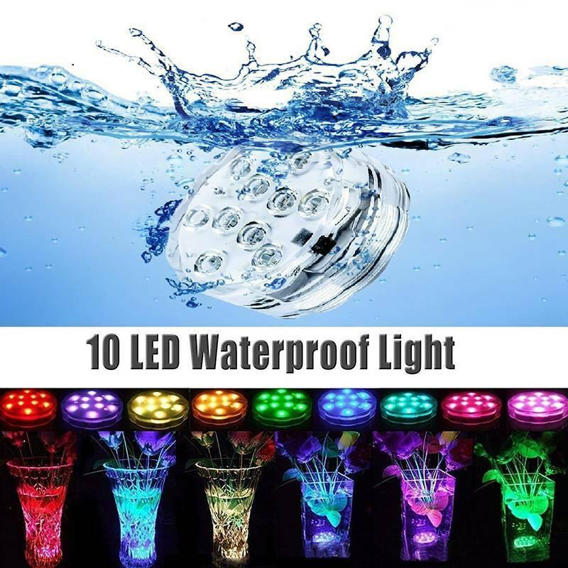 Unterwasserlicht Unterwasserlampe RGB LED Pool Teich Badewanne Licht Poollampe