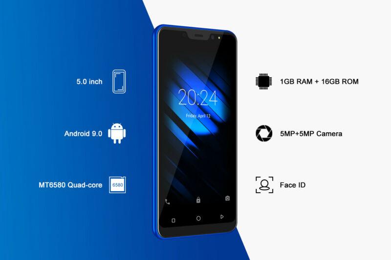 Android9-0-Dual-SIM-SMARTPHONE-CELLULARE-16-GB-ROM-QuadCore-Sbloccato-5-0-Pollic miniatura 5