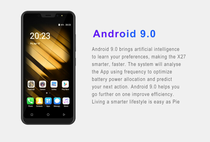 Android9-0-Dual-SIM-SMARTPHONE-CELLULARE-16-GB-ROM-QuadCore-Sbloccato-5-0-Pollic miniatura 6