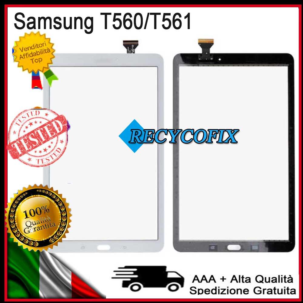 NUOVO Originale Samsung Galaxy Tab e sm-t560 t560 Digitalizzatore Touch Screen colore BIANCO