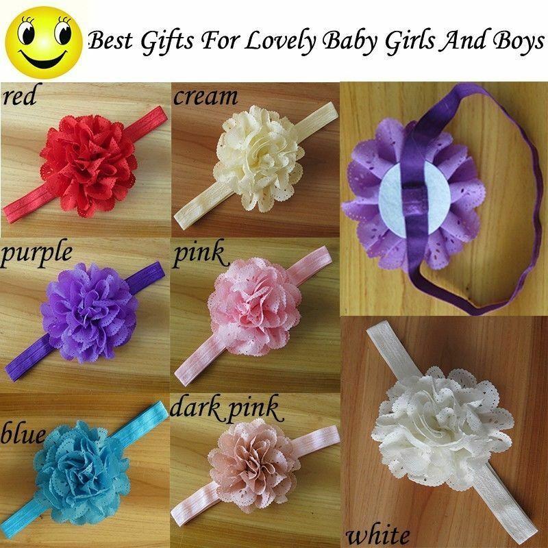 Smart Lovely Little Babies Girls Flower Hair Band Elastic Headbands For Gifts sf