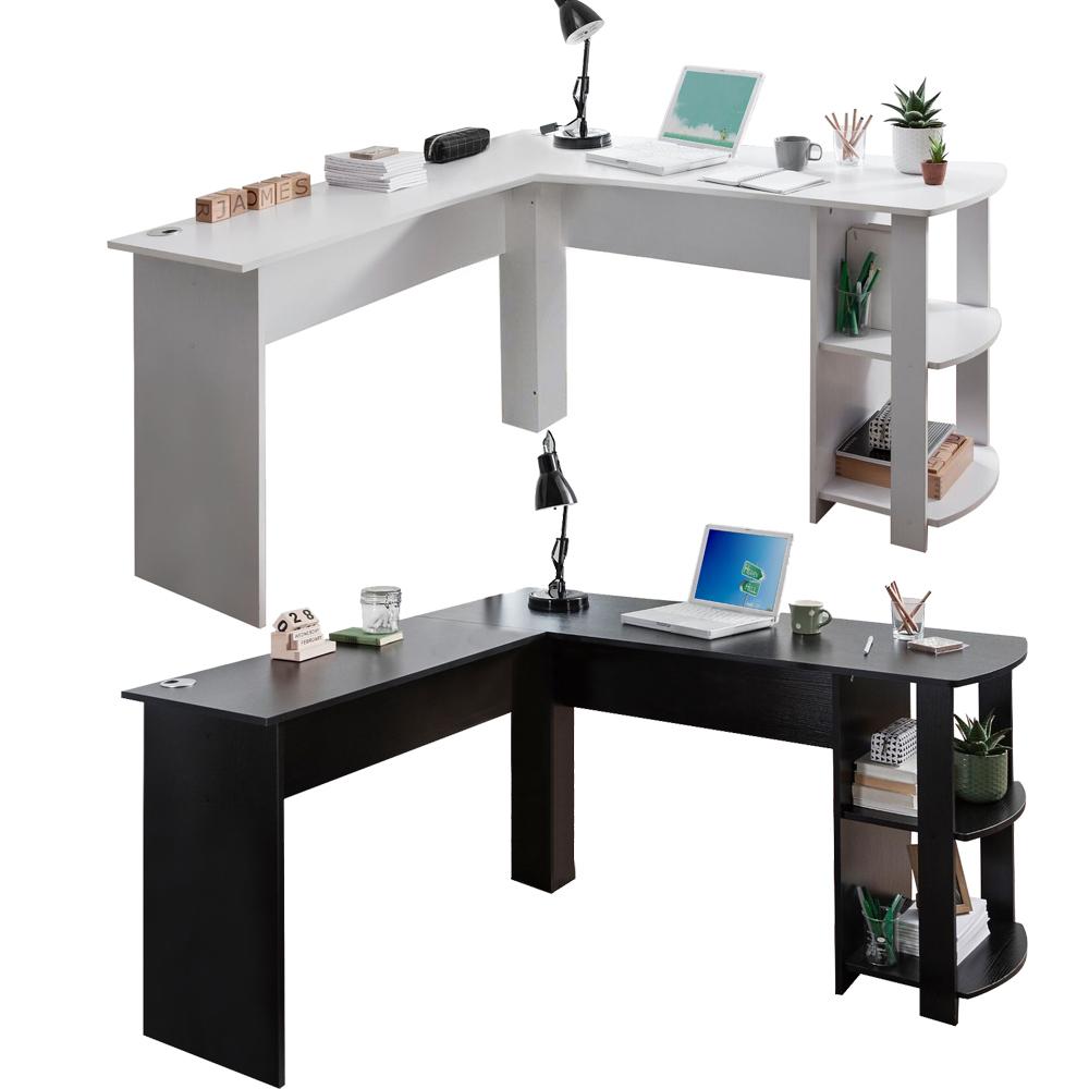 Corner Computer Desk L Shape Wooden