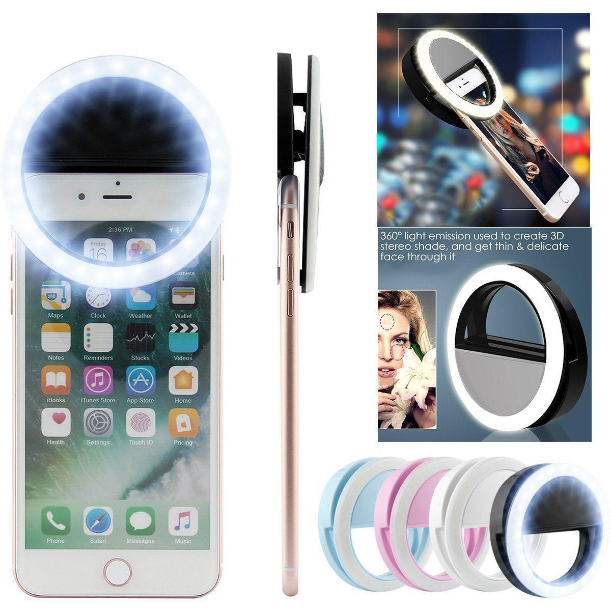 Led Lighting For Camera Phones Tablet Full Hd Do 500 Zl Smonet Wireless Hd Camera Cctv Security Kit Hd Tv Shows Stream: Selfie LED Light Ring Flash Fill Clip Camera For Phone
