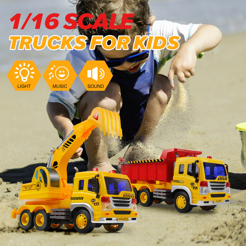 1 16 Engineering Construction Truck Excavator Digger Vehicle Cars