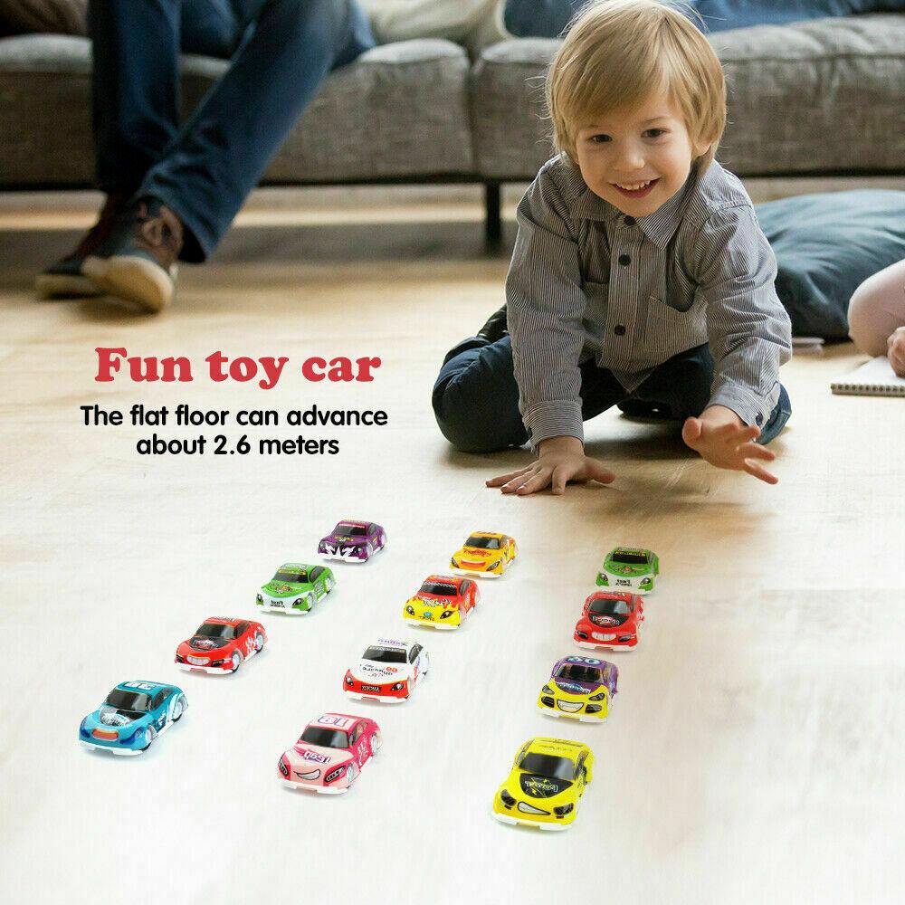 18 Camion Pcs Voitures Racing Sur Enfants Mini Bébé 6 Jouet Tirer Détails Cadeau Dos Modèle vN8nmO0w