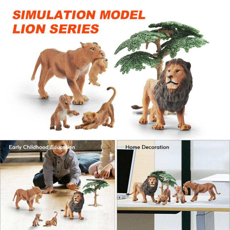 Jouet Science Figurine De Modèle De Famille Vivid Lion Lionne Pour Enfants