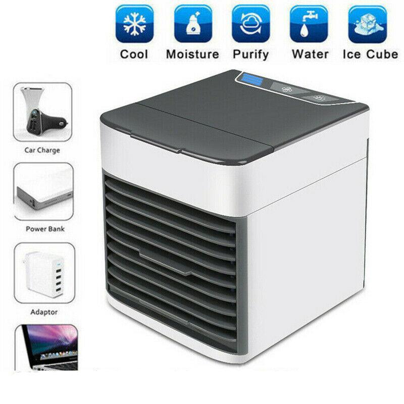 Mini Refroidisseur D'air Climatiseur Humidificateur Mobile Fan Ventilateur Cool 3