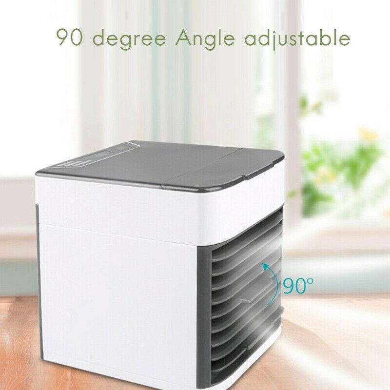 Mini Refroidisseur D'air Climatiseur Humidificateur Mobile Fan Ventilateur Cool 4