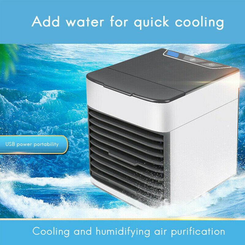 Mini Refroidisseur D'air Climatiseur Humidificateur Mobile Fan Ventilateur Cool 5