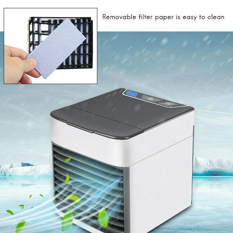Mini Refroidisseur D'air Climatiseur Humidificateur Mobile Fan Ventilateur Cool 6