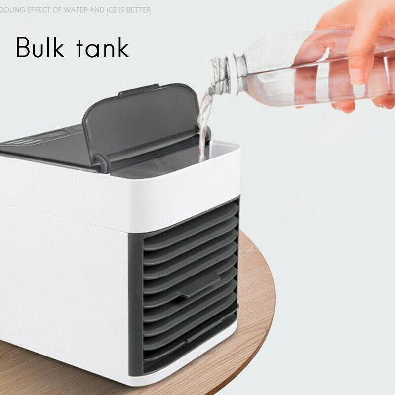 Mini Refroidisseur D'air Climatiseur Humidificateur Mobile Fan Ventilateur Cool 7