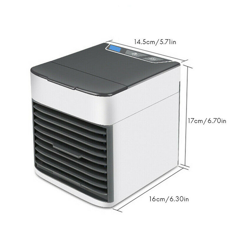 Mini Refroidisseur D'air Climatiseur Humidificateur Mobile Fan Ventilateur Cool 8