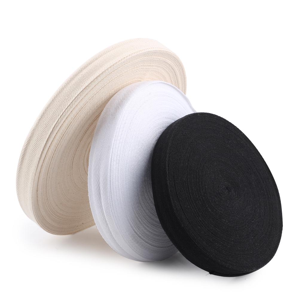 "25mm 1/"" Cotton Herringbone Twill Tape Fabric Dress Making sewing Bunting STRAP"
