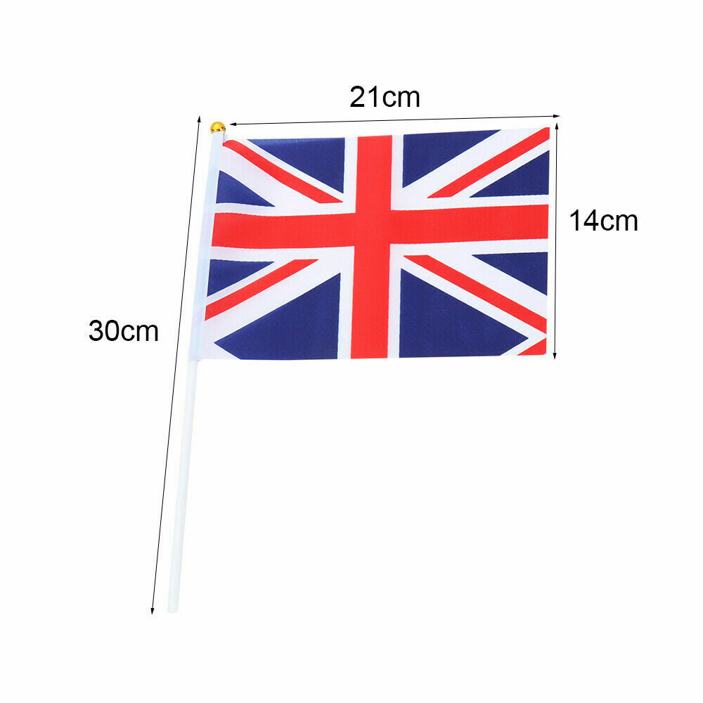 21cm Hand Waving Thank You NHS Flag Flying Banner with Poles 10pcs 14