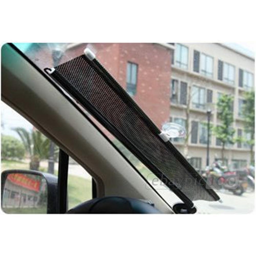 rideau roulant pare soleil r tractable protection pour fen tre voiture ebay. Black Bedroom Furniture Sets. Home Design Ideas