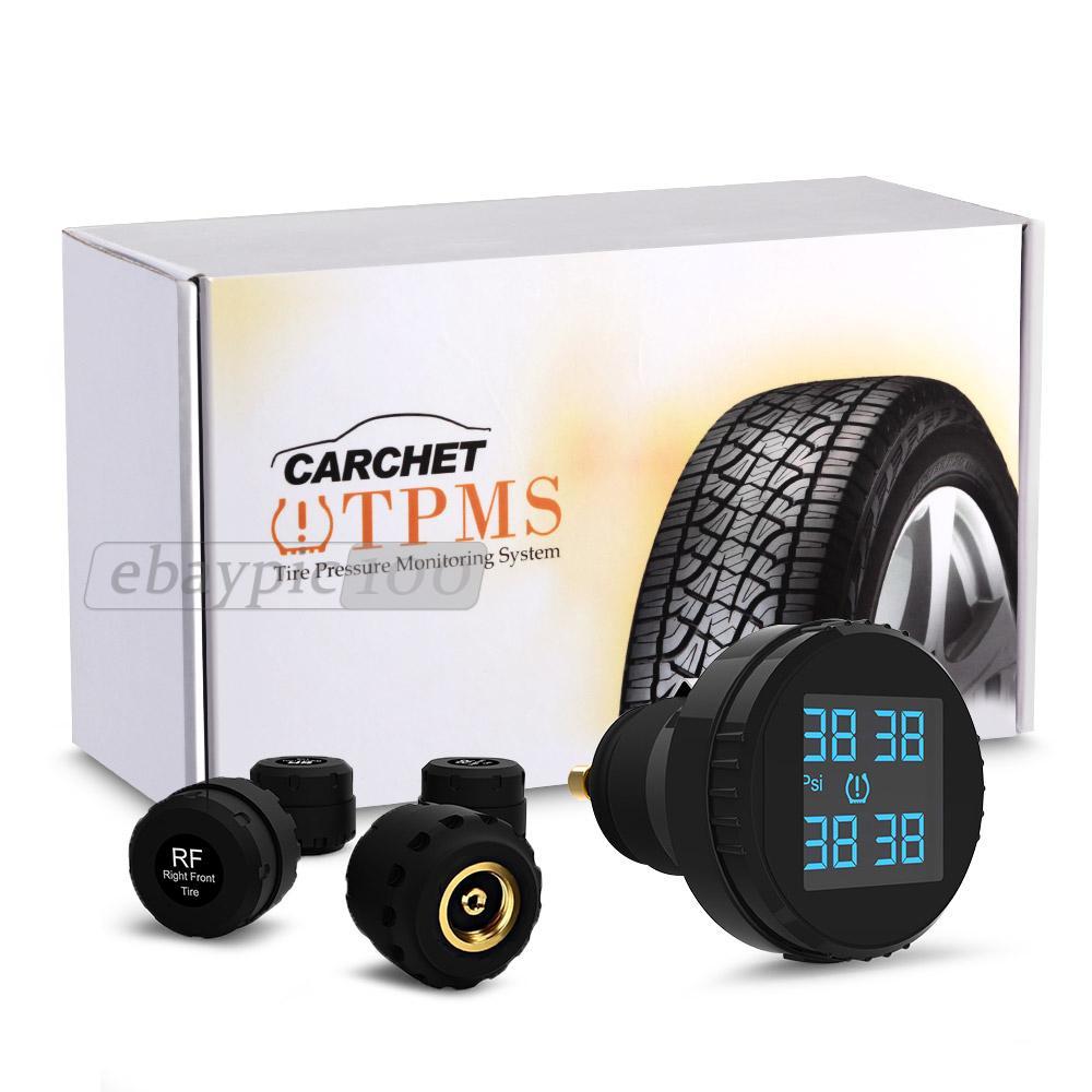 carchet sans fil tpms syst me de surveillance de pression de pneus 4 capteur ebay. Black Bedroom Furniture Sets. Home Design Ideas