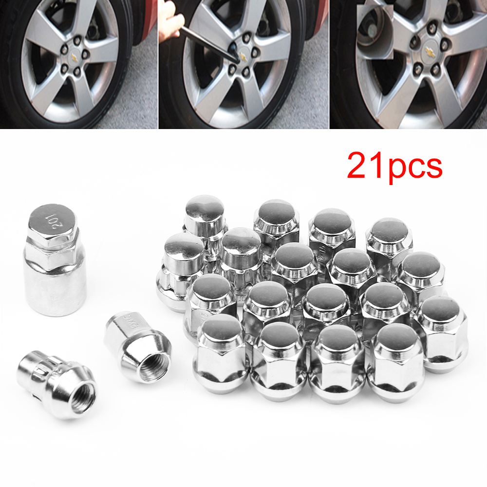 16 Chrome Wheel Nuts for Ford Fiesta with Genuine Alloys