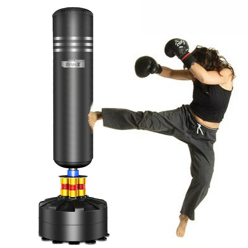 1.6M Free Standing Boxing Punch Bag Dummy MMA Martial Kids Strike Kick Training