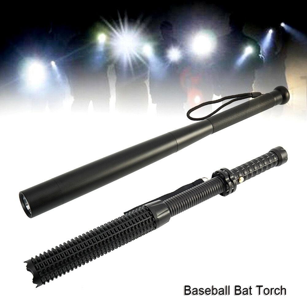 UK Baseball Bat Waterproof Security LED Flashlight Q5 Cree Super Bright Torch