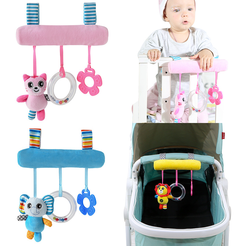 Cute Baby Kids Stroller Bed Pram Hanging Bell Plush Rattle Teether Soft Crib Toy