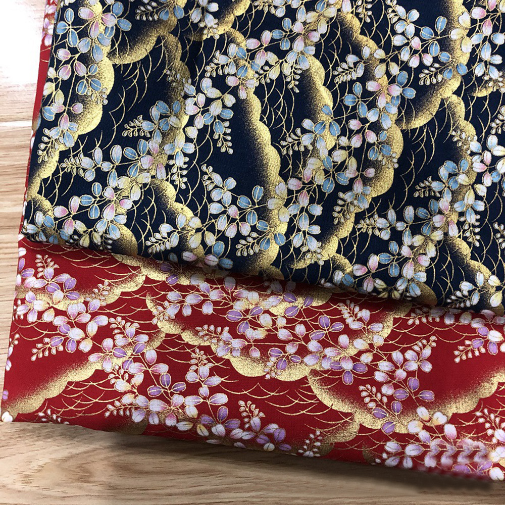 Japanese-Cotton-Fabric-Cherry-Blossom-Sewing-Fabric-Patchworks-Quilting-DIY thumbnail 4