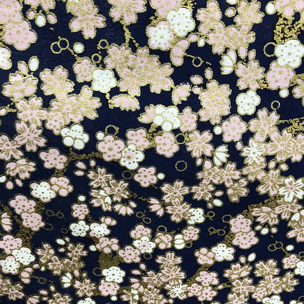 Japanese-Cotton-Fabric-Cherry-Blossom-Sewing-Fabric-Patchworks-Quilting-DIY thumbnail 5