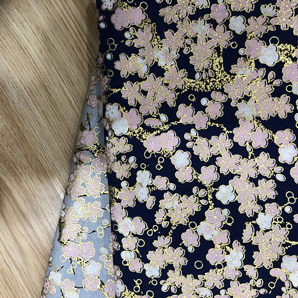 Japanese-Cotton-Fabric-Cherry-Blossom-Sewing-Fabric-Patchworks-Quilting-DIY thumbnail 6