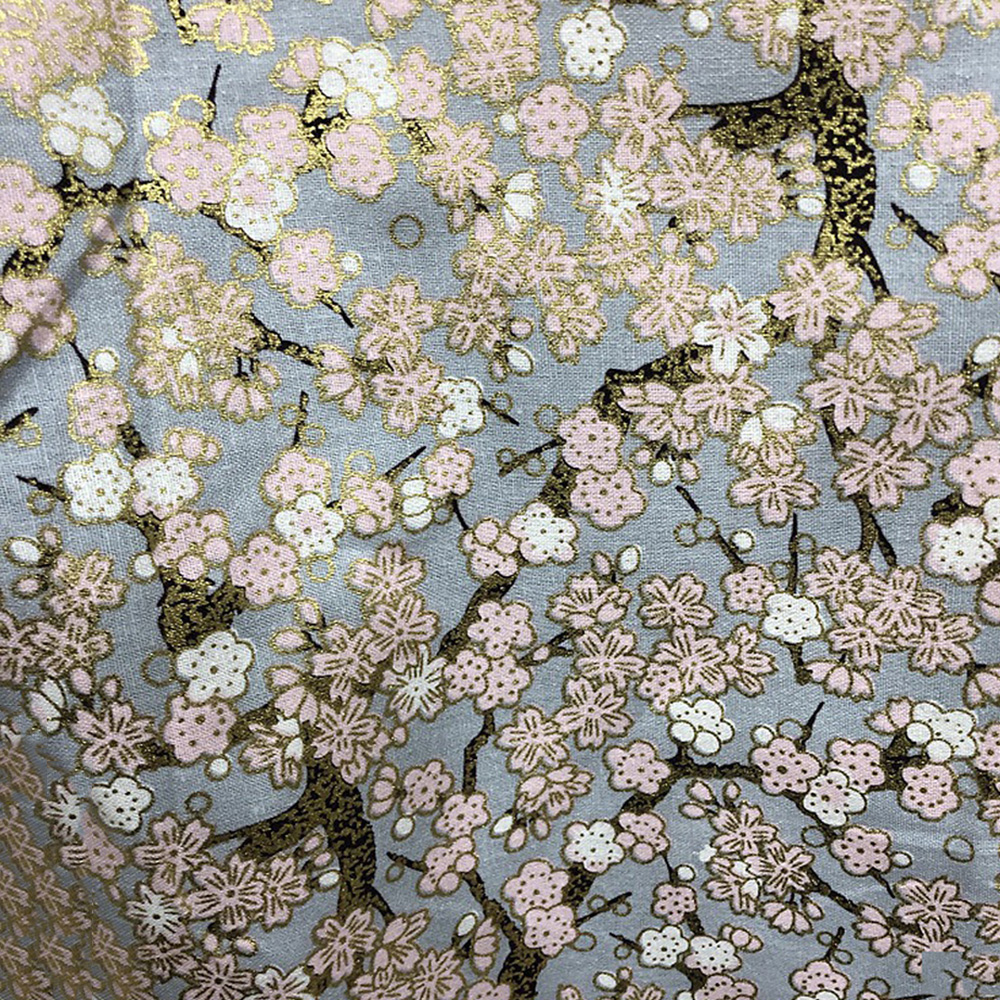 Japanese-Cotton-Fabric-Cherry-Blossom-Sewing-Fabric-Patchworks-Quilting-DIY thumbnail 7