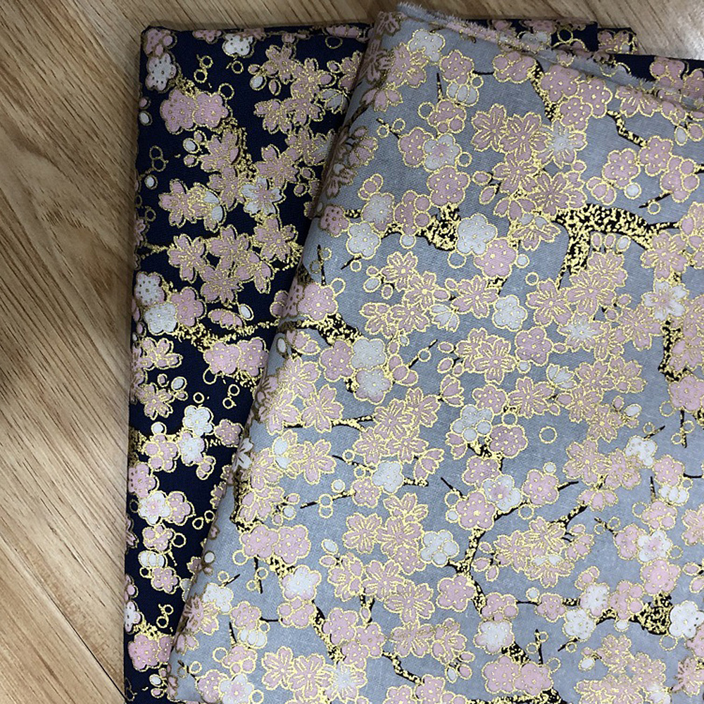 Japanese-Cotton-Fabric-Cherry-Blossom-Sewing-Fabric-Patchworks-Quilting-DIY thumbnail 8
